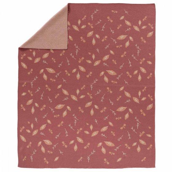 Fresk Forest Rose Knitted Blanket 80 x 100cm