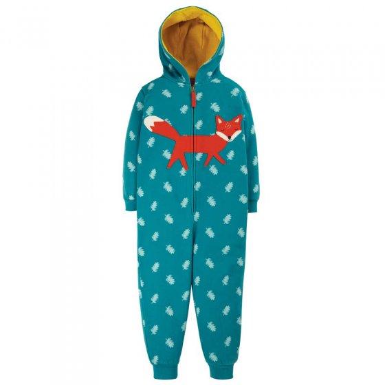 Frugi Acorn Leaves Fox Big Applique Snuggle Suit