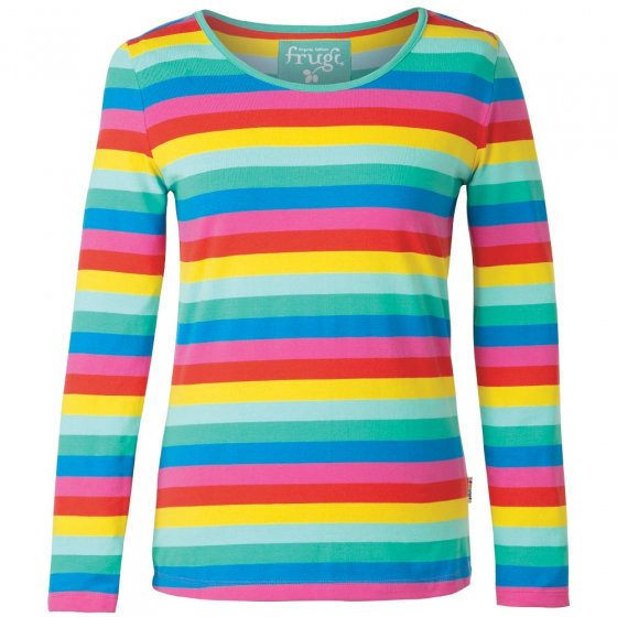 Frugi Adult Multi Stripe Grown Ups Bryher Top
