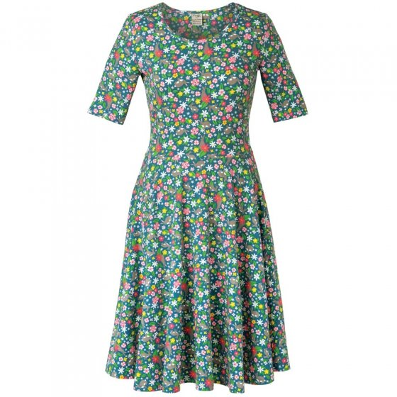 Frugi Adult Rabbit Fields Grown Up Skater Dress