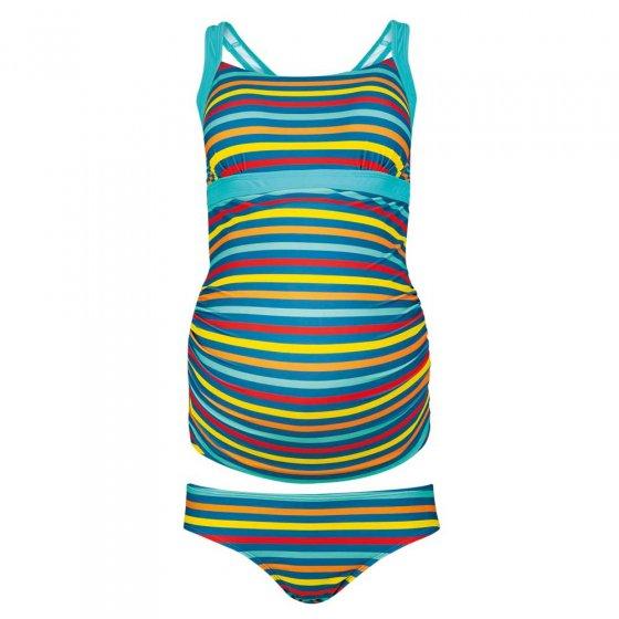 Frugi Adult Swim Stripe Teagan Tankini