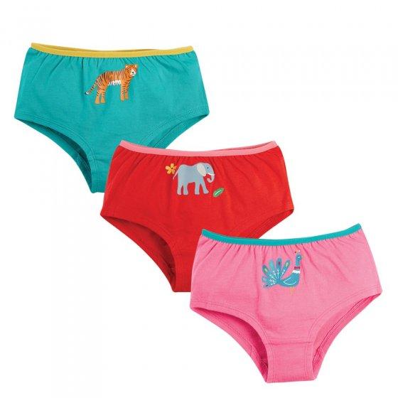 Frugi Animals Georgia Shorts 3 Pack