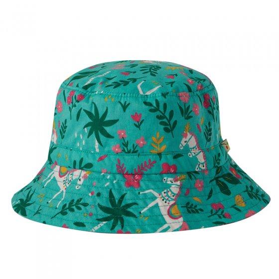 Frugi Aqua Indian Horse Heidi Reversible Hat