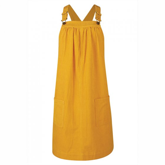 Frugi Adult Gold Berry Maternity Cord Pinafore