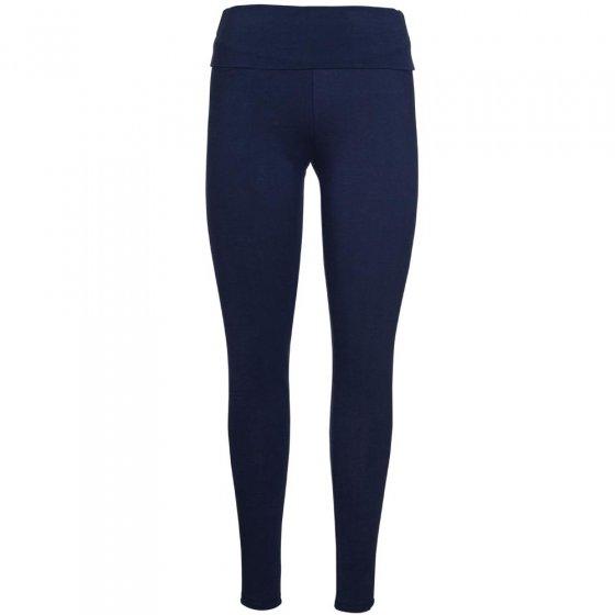 Frugi Bloom Indigo Roll Top Yoga Pants
