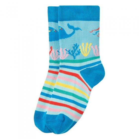 Frugi Blue Sea Perfect Pair Socks