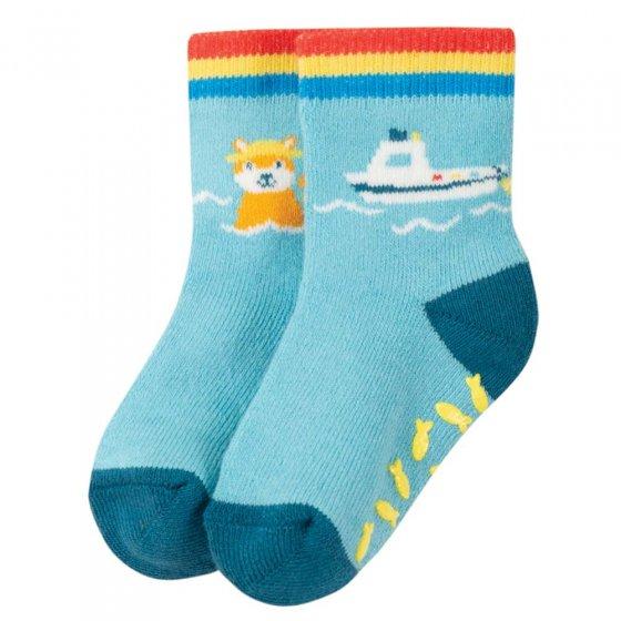 Frugi Boat Sully Grippy Socks