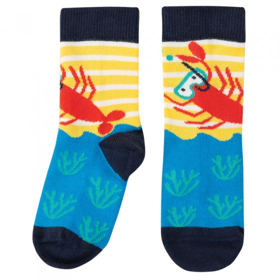 Frugi Breton Lobster Perfect Pair Socks