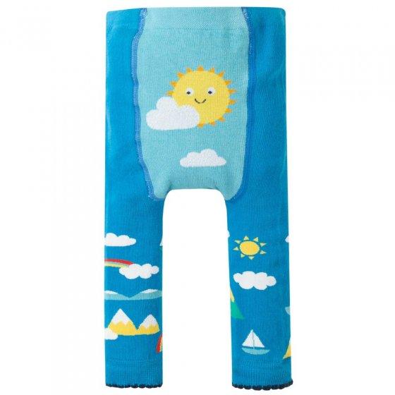 Frugi Bright Sky Sun Knitted Leggings