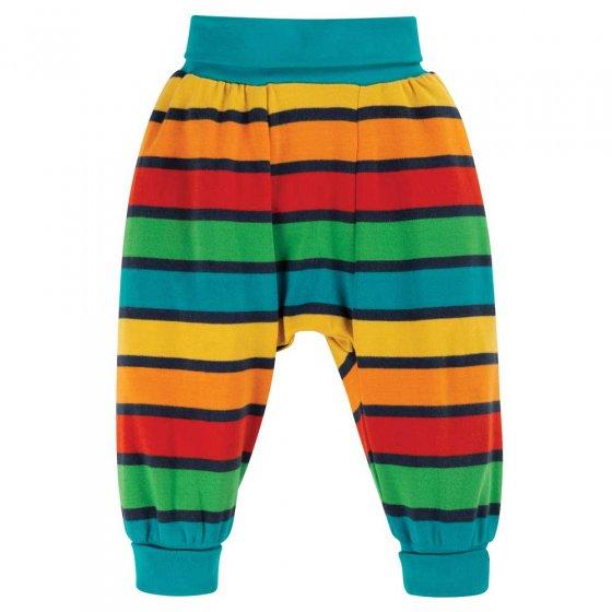 Frugi Bumble Bee Rainbow Stripe Parsnip Pants