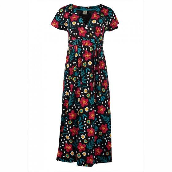 Frugi Adult Bold Floral Cecilia Maternity & Nursing Dress