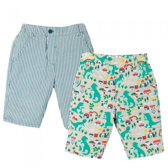 Frugi City Stomp Reuben Reversible Shorts