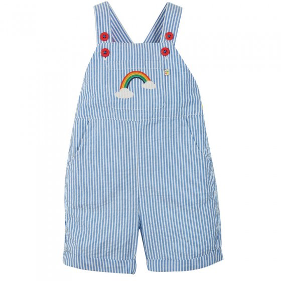 Frugi Cobolt Stripe Rainbow Godrevy Dungaree