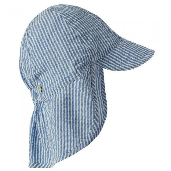 Frugi Colbalt Blue Stripe Seersucker Legionnaires Hat