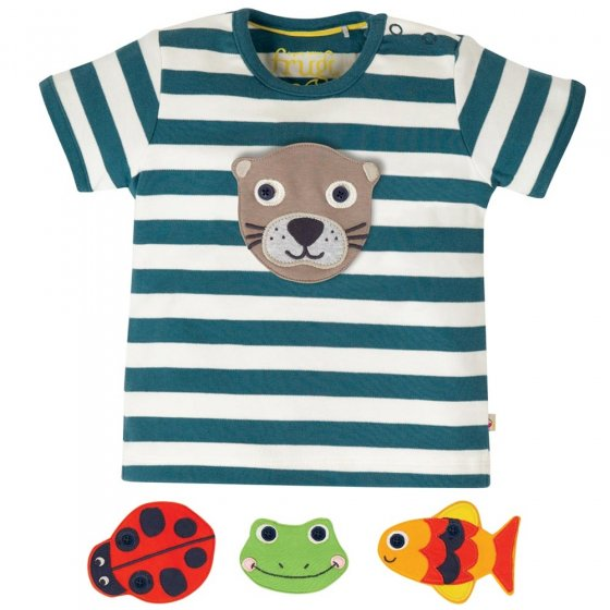 Frugi Creature Button Off Applique Top