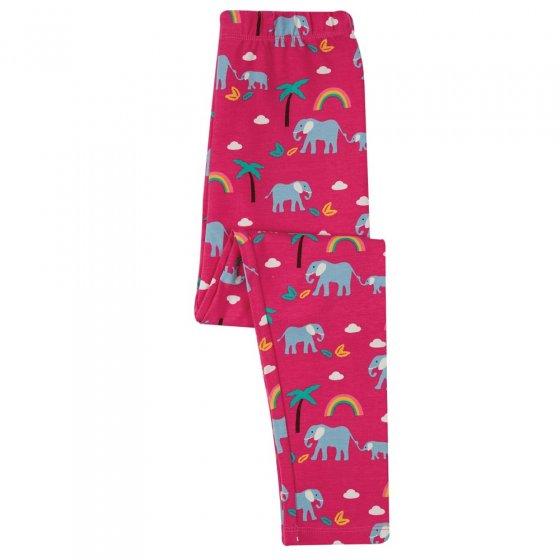Frugi Deep Pink Rainbow Walks Libby Printed Leggings
