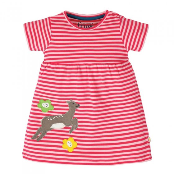 Frugi Deer Jade Jersey Dress