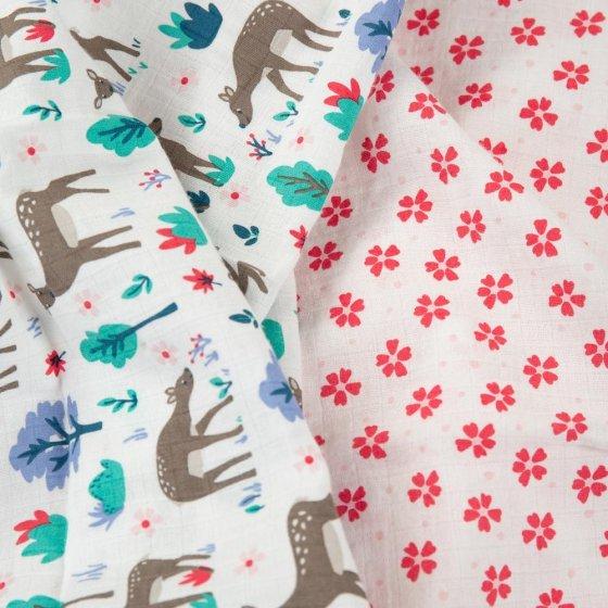 Frugi Deer Lovely Muslin 2 Pack