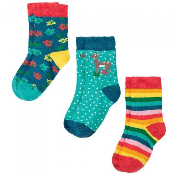 Frugi Deer Susie Socks 3 Pack