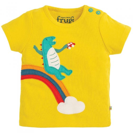 Frugi Dino Scout Applique Top