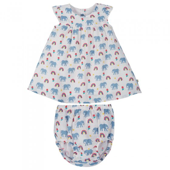 Frugi Elephants Dolly Muslin Outfit
