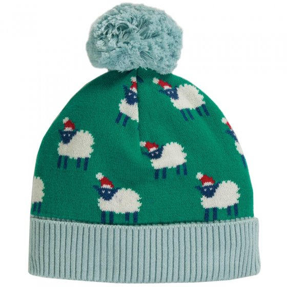Frugi Festive Sheep Icicle Intarsia Hat