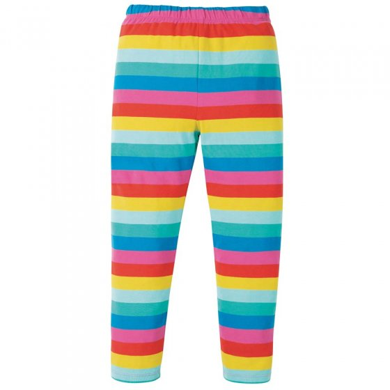 Frugi Flamingo Multi Stripe Libby Striped Leggings