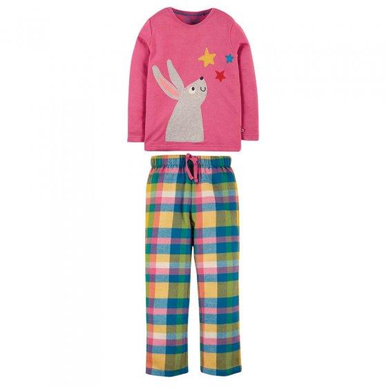 Frugi Foxglove Bunny Caden Check Pyjamas