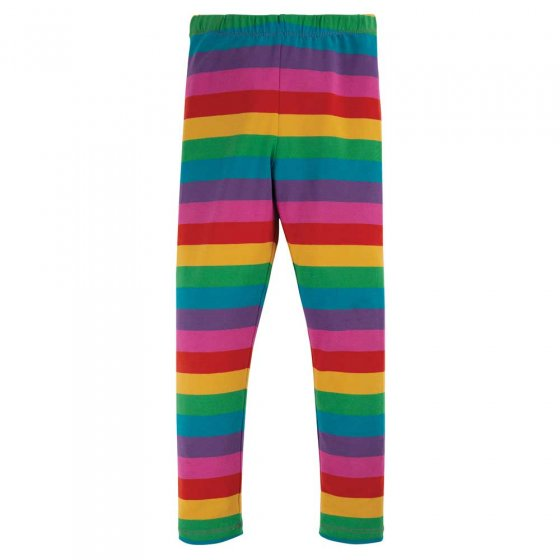 Frugi Foxglove Rainbow Stripe Libby Leggings