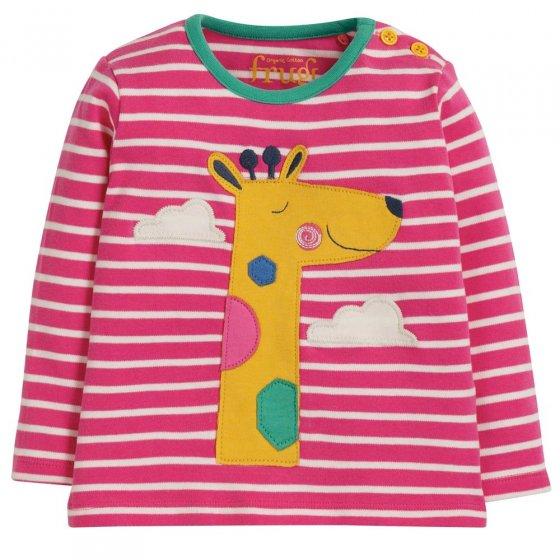Frugi Giraffe Button Applique Top