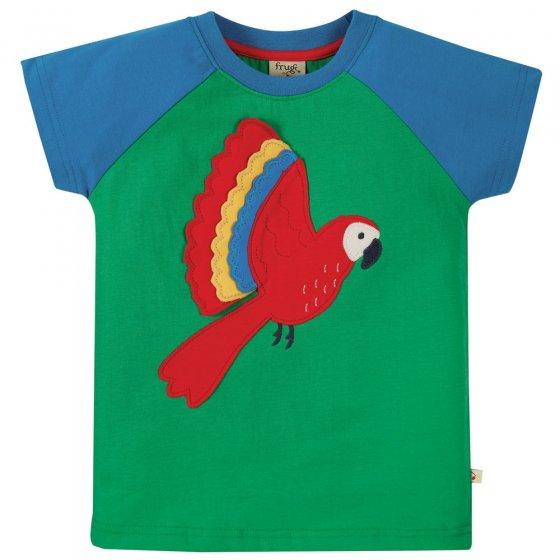 Frugi Glen Green Parakeet Rafe Raglan T-Shirt