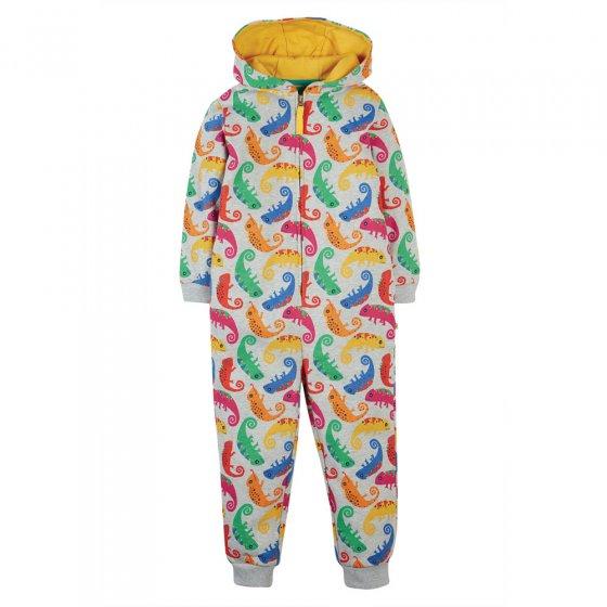 Frugi Grey Marl Chameleon Big Snuggle Suit