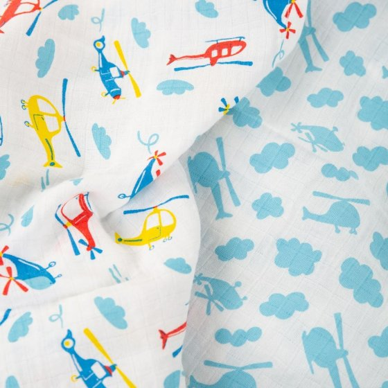 Frugi Helicopter Lovely Muslin 2 Pack