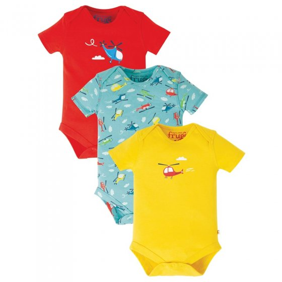 Frugi Helicopter Super Special Body 3-Pack