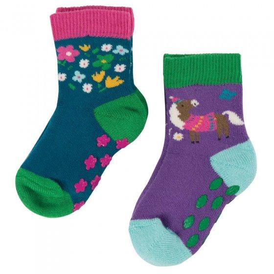 Frugi Horse Grippy Socks Multipack