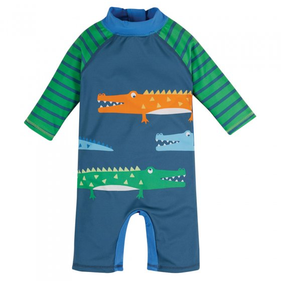 Frugi India Ink Crocs Little Sun Safe Suit