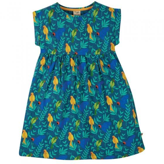 Frugi Indian Parakeets Faith Slub Dress