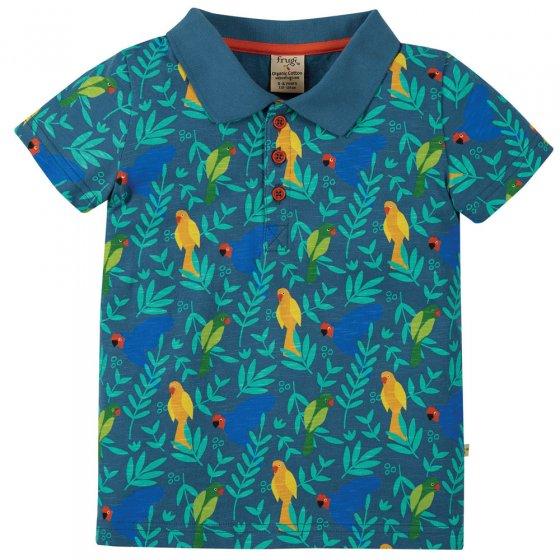 Frugi Indian Parakeets Penwith Polo Shirt