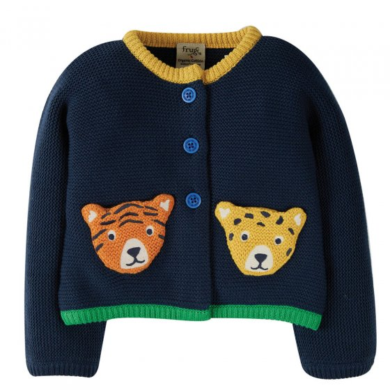 Frugi Indigo Big Cats India Cardigan