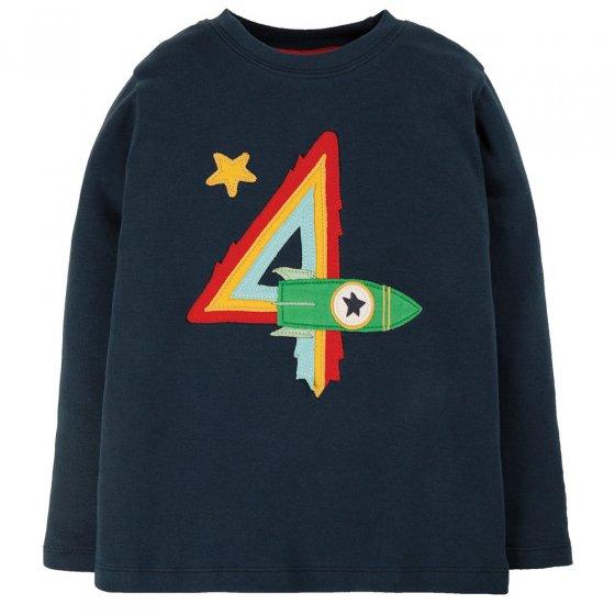 Frugi Indigo Rocket Magic Number T-Shirt 4-5 Years