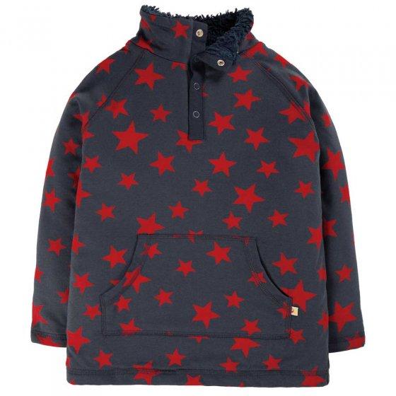Frugi Indigo Scattered Star Snuggle Fleece
