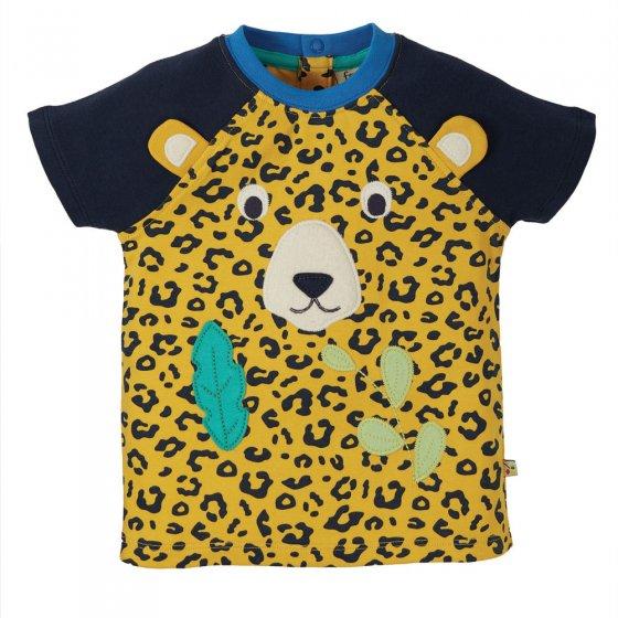 Frugi Leopard Spot Happy Raglan T-Shirt