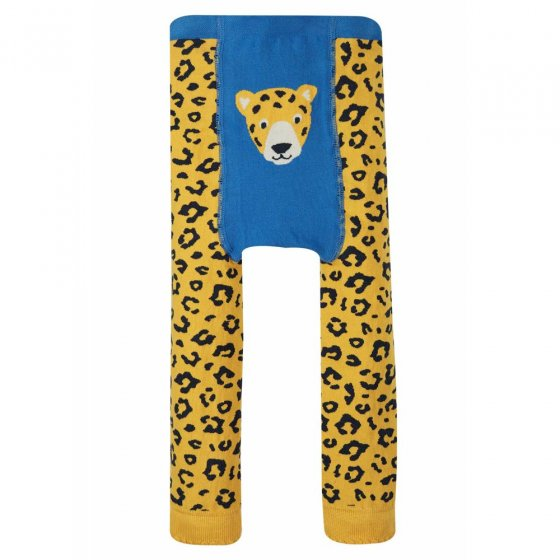 Frugi Leopard Spot Little Knitted Leggings