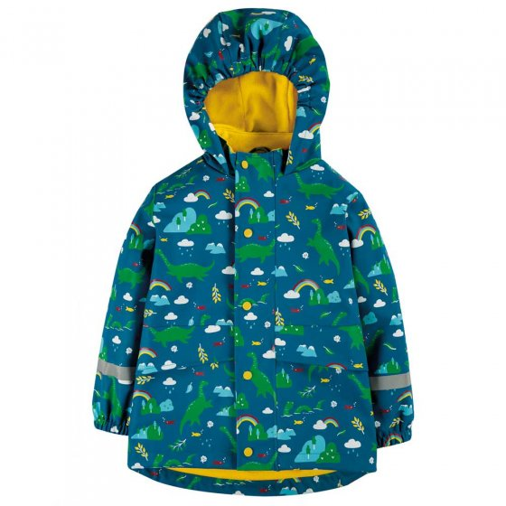Frugi Loch Blue Nessie Puddle Buster Coat