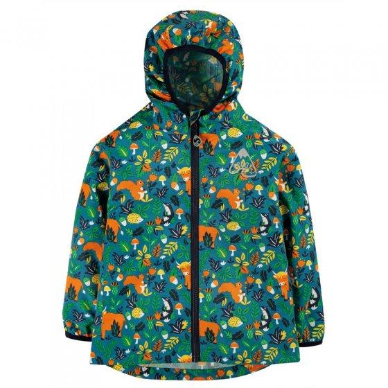 Frugi Loch Blue Woodland Critters Rain or Shine Jacket