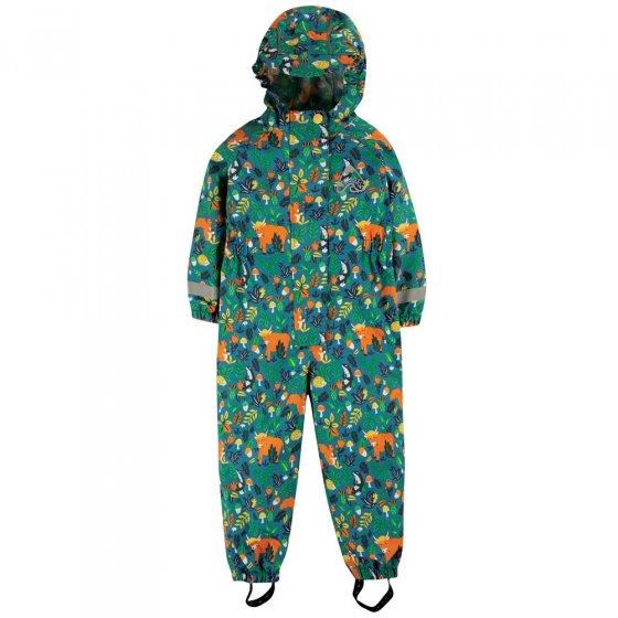 Frugi Loch Blue Woodland Critters Rain Or Shine Suit