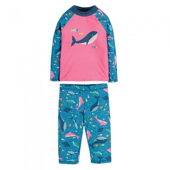 Frugi Mid Pink Whale Sun Safe Set