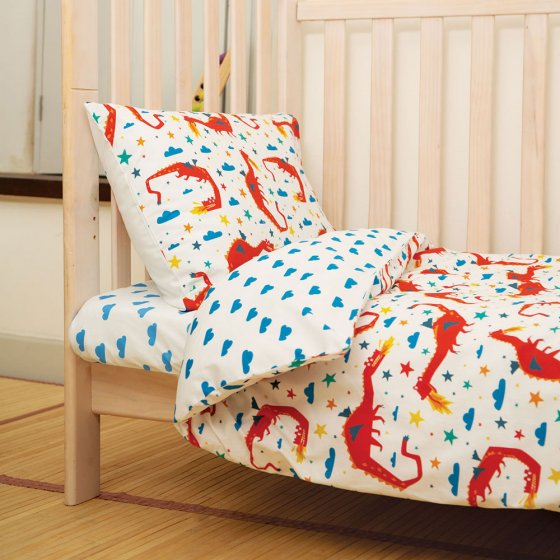 Frugi Motosu Blue Clouds Cuddle-Up Cot Bed Sheet