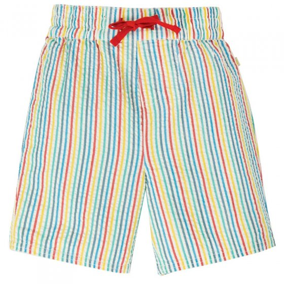 Frugi Multi Seersucker Stripe Akiara Shorts