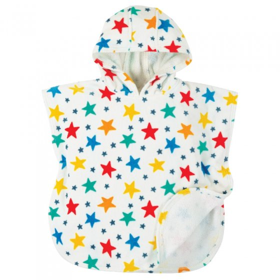 Frugi Multi Star Little Children's Hooded Towel